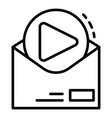 video email sent icon outline style vector image vector image