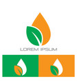 waterdrop leaf eco nature logo vector image vector image