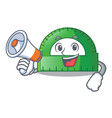 with megaphone protactor in on the character shape vector image vector image