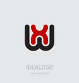 wx or xw - design element or icon initial vector image vector image