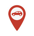 car red pointer icon vector image