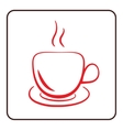 Coffee cup icon red vector image