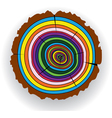 colorful wooden cut vector image