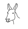 animal donkey icon design clip art line icon vector image vector image