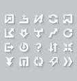 arrow shapes simple paper cut icons set vector image vector image