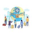 avoid travel to stop coronavirus pandemic vector image