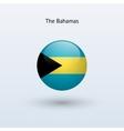 Bahamas round flag vector image