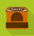 bakery tent shop icon flat style vector image
