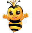beautiful cute bee vector image vector image