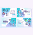bio technologies color linear icons set vector image