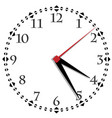 black and white clock simple fifty-six edition vector image vector image
