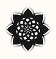 black flower 0001 vector image vector image
