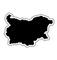 black silhouette of the country bulgaria with the vector image vector image