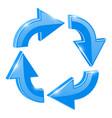 blue 3d arrows in circular motion vector image