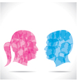 blue men and pink women vector image vector image