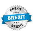 brexit round isolated silver badge vector image vector image
