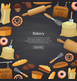 cartoon bakery background vector image vector image