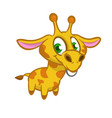 cartoon of funny cute giraffe vector image vector image