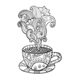 coffee or tea cup with abstract ornaments vector image