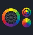 color wheel scheme vector image