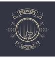 Craft brewing Beer keg Vintage emblem vector image