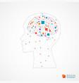 Creative brain concept background with triangular