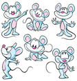 cute mouses vector image vector image