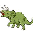Cute Triceratops three horned dinosaur isolated vector image vector image