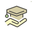diploma cap icon design for business training vector image vector image