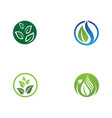 eco tree leaf logo template vector image vector image