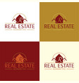 elegant real estate logo vector image