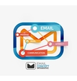 Email infographics with tags