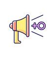 feminist advocacy rgb color icon