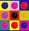 finance graph sign pop-art style colorful vector image vector image
