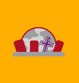 flat icon on background halloween cemetery full vector image vector image