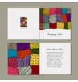 Greeting card patchwork carpet design vector image