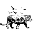 Hand drawn Tiger for your design wildlife concept vector image vector image