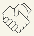 handshake thin line icon partnership vector image