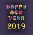 happy new year 2019 disco retro vector image