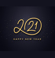 happy new year 2021 wishes typography vector image