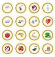healthy lifestyle cartoon icon circle vector image vector image