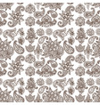 henna tattoo mehndi flower doodle ornamental vector image vector image