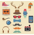 Hipster elements set vector image vector image