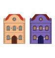 houses flat style old european building colored vector image vector image
