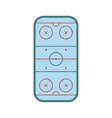 Ice hockey rink icon vector image