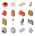 Interior Isometric Icons Set vector image vector image