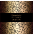 Invitation decorative golds 41 vector image vector image