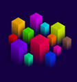 isometric abstract design geometric blocks on vector image