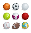 Isometric Sports Balls Set vector image vector image