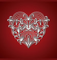 laser cutting abstract heart with decorative forms vector image
